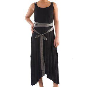 Plus Size Elegant Dress with Sash - La Mouette